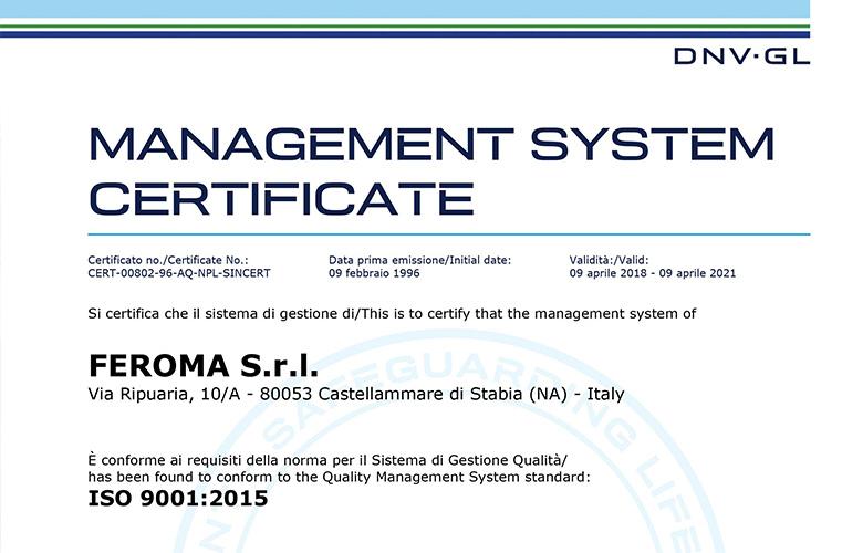 certificato_Feroma